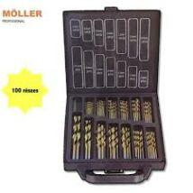 Möller MR70630 100 részes HSS fúrókészlet fúrószár csigafúró fém+fa