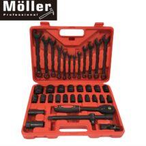 Möller MR70766 37 részes racsnis dugókulcs és villáskulcs készlet kofferben