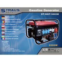 Straus ST/GGT-3003E 3500W önindítós benzinmotoros generátor