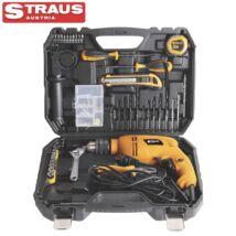 Straus ST/ID1050-100 100 részes 1050W nagy teherbírású ütvefúró kofferrel