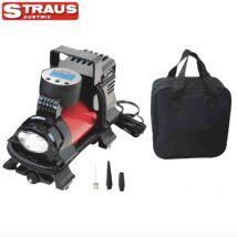 Straus ST/TIC-0180 180W 12V gumiabroncs töltő kompresszor készlet digitális kijelzővel