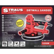 Straus ST/WS1250-003 1.250W 180mm falcsiszoló LED világítás + 6 darab csiszolópapír