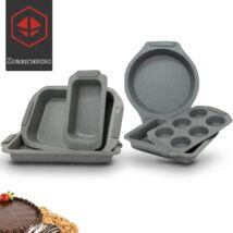 Zürrichberg ZBP2048 6 részes szénacél márvány bevonatú torta és sütőforma szett