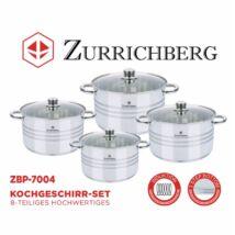 Zürrichberg ZBP7004 8 részes főzőedény-készlet edényszett, indukciós tűzhelyhez is