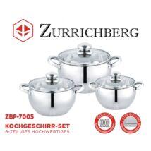 Zürrichberg ZBP7005 6 részes rozsdamentes edénykészlet