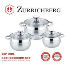 Zürrichberg ZBP7006 6 részes rozsdamentes edénykészlet