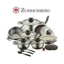 Zürrichberg ZBP7026 19 részes delux edénykészlet, márvány bevonatú, tapadásmentes serpenyővel, thermo control kijelzővel, minden tűzhelyhez, indukcióshoz is