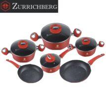 Zürrichberg ZBP7154 10 részes márvány bevonatú öntött alumínium edénykészlet