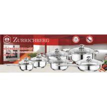Zürrichberg ZBP7164 12 részes rozsdamentes edénykészlet, minden típusú tűzhelyhez
