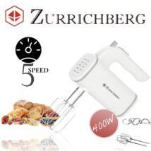 Zürrichberg ZBP7605 400W 5 sebességes kézi mixer + 2 rozsdamentes acél habverő és 2 tészta horog