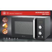Zürrichberg ZBP7622 2 az 1-ben 1.400W 30L mikrohullámú- és grillsütő LED kijelzővel