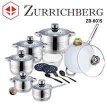 Zürrichberg ZBP8015 18 részes edénykészlet kerámiabevonatú serpenyővel
