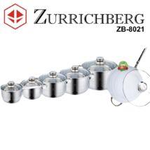 Zürrichberg ZBP8021  12 részes rozsdamentes edénykészlet, kerámia bevonatú, tapadásmentes serpenyővel, több rétegű szendvicstalppal, indukcióshoz is