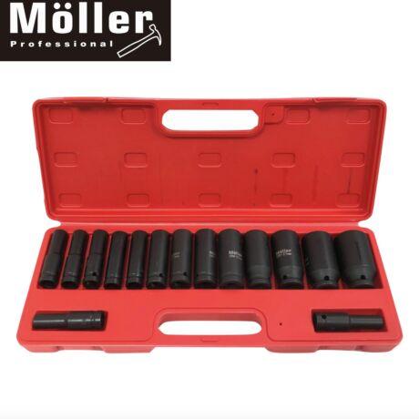 Möller MR70782 15 részes 1/2'' pneumatikus ütvecsavarozó dugókulcs készlet