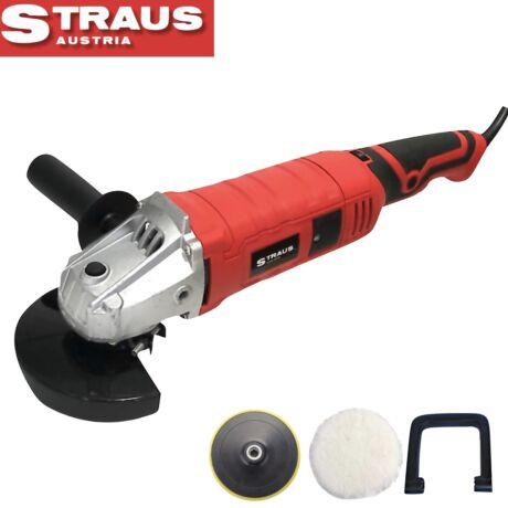 Straus ST/AGP-1500 2 in 1 sarokcsiszoló és autó polírozó 1500W 125mm