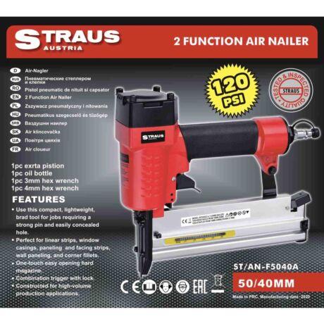 Straus ST/AN-F5040A pneumatikus tűző és szögbelövő 2 az 1-ben
