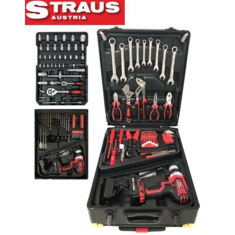 Straus ST/CD20-N396 396 részes szerszámkészlet 20 V akkus fúróval kofferben
