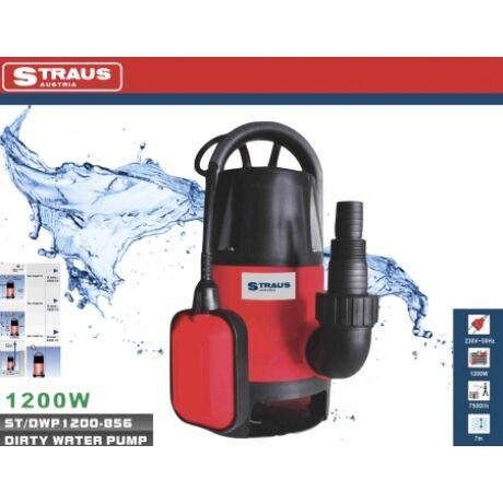 Straus ST/DWP1200-856 szennyvíz szivattyú 1.2000W 7.500l/h segítség árvíz idején