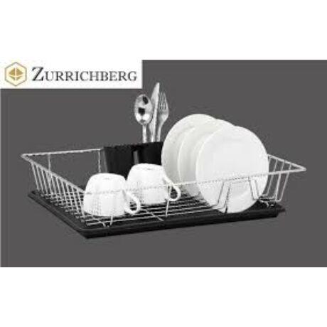 Zürrichberg ZBP7110 egyszintes krómozott edényszárító + evőeszköz tartó hordozható csomagolással