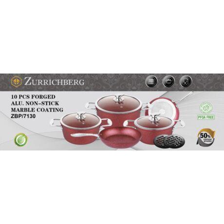 Zürrichberg ZBP7130 10 részes öntött alumínium tapadásmentes márvány bevonatú edénykészlet