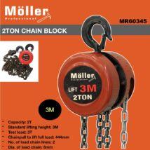 Möller MR60345 2T 3m láncos emelő
