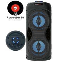PowerBase PB/SP-7004 15W akkus Bluetooth hangfal, LED Kijlező, MP3, USB, FM rádió