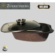 Zürrichberg ZBP7102 32cm márvány bevonatú kacsasütő + hőálló üveg fedő