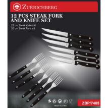 Zürrichberg ZBP7405 12 részes steak kés és villa készlet