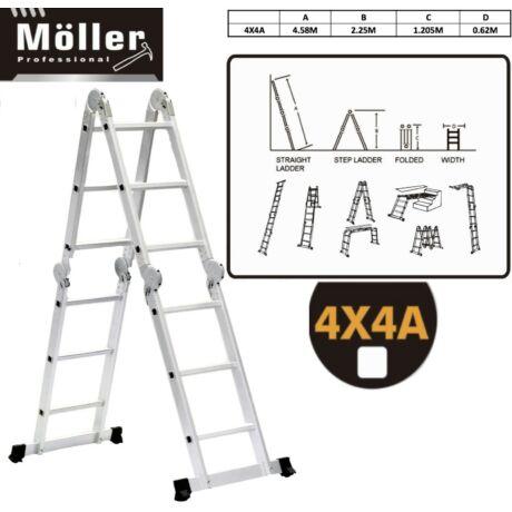 Möller MR70725 4×4 fokos állványos univerzális csuklós létra