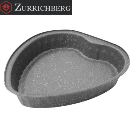 Zürrichberg ZBP2033 - 27,5cm Szénacél Márvány Bevonatú Szív Alakú tortaforma
