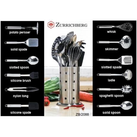 Zürrichberg ZBP2088 13 részes konyhaeszköz készlet tárolóval