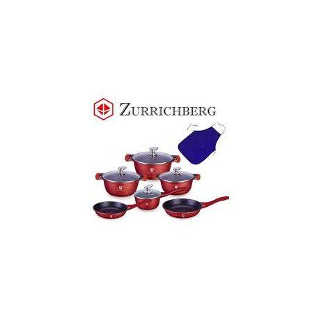 Zürrichberg ZBP7007 10 részes, tapadásmentes, szilikonfogós, márványbevonatú edénykészlet, indukciós laphoz is