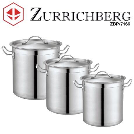 Zürrichberg ZBP7166 6 részes óriási edénykészlet 25L, 33L és 50L fazékkal