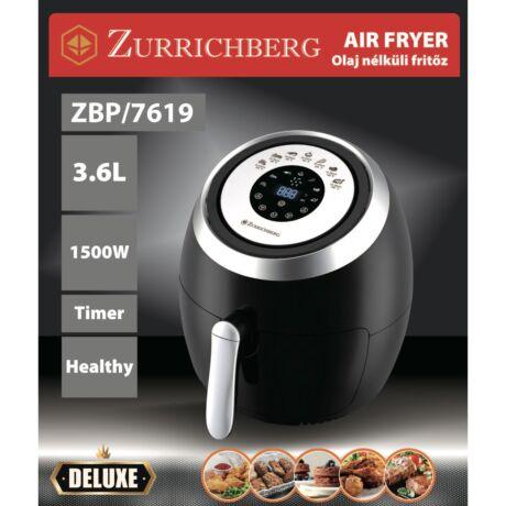 Zürrichberg ZBP7619 digitális olaj nélküli fritőz 3,6L 1.500W